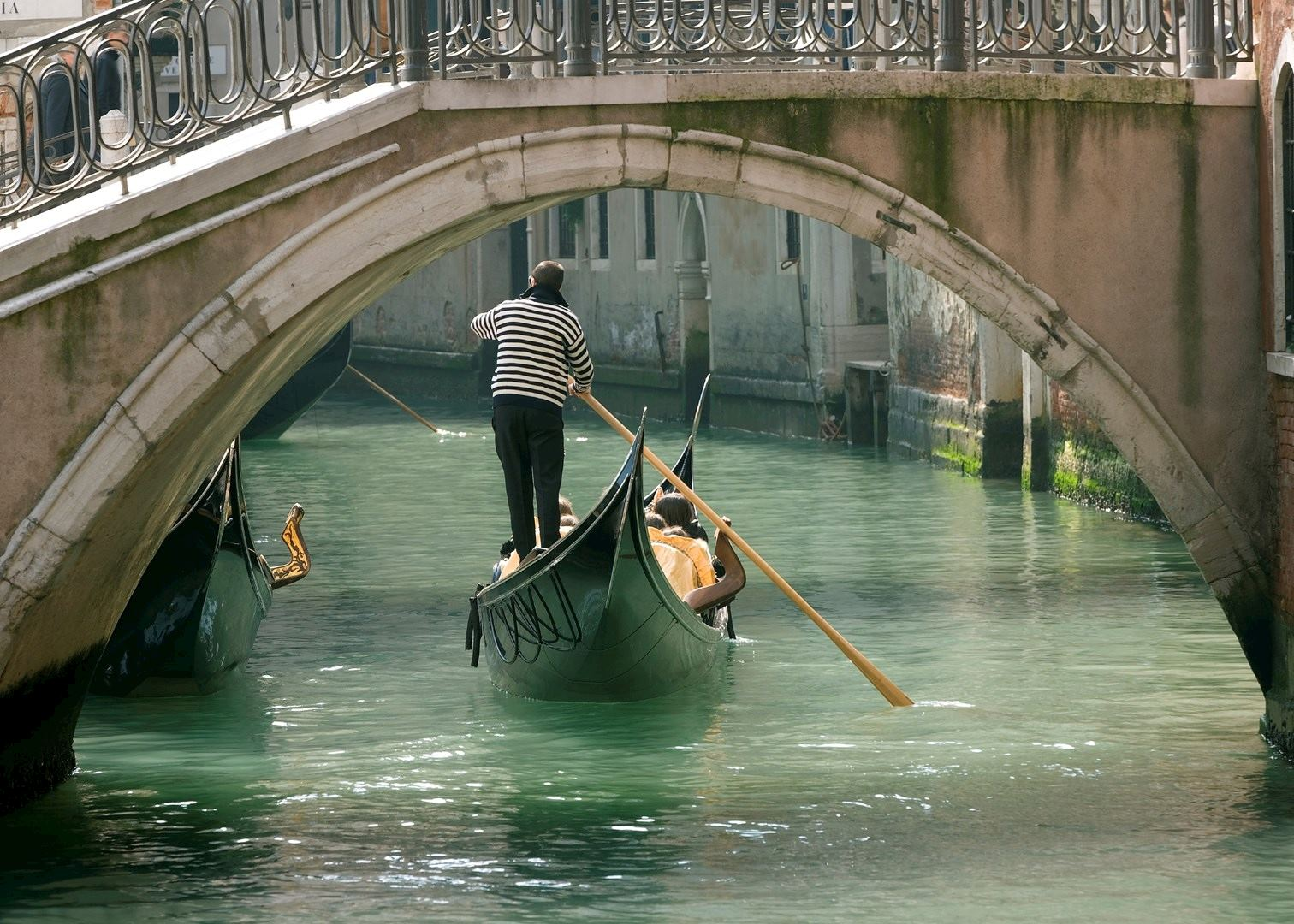 Gondola Ride On The Waterways Of Venice