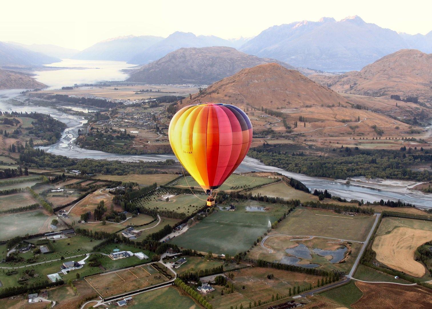 Hot air balloon queenstown