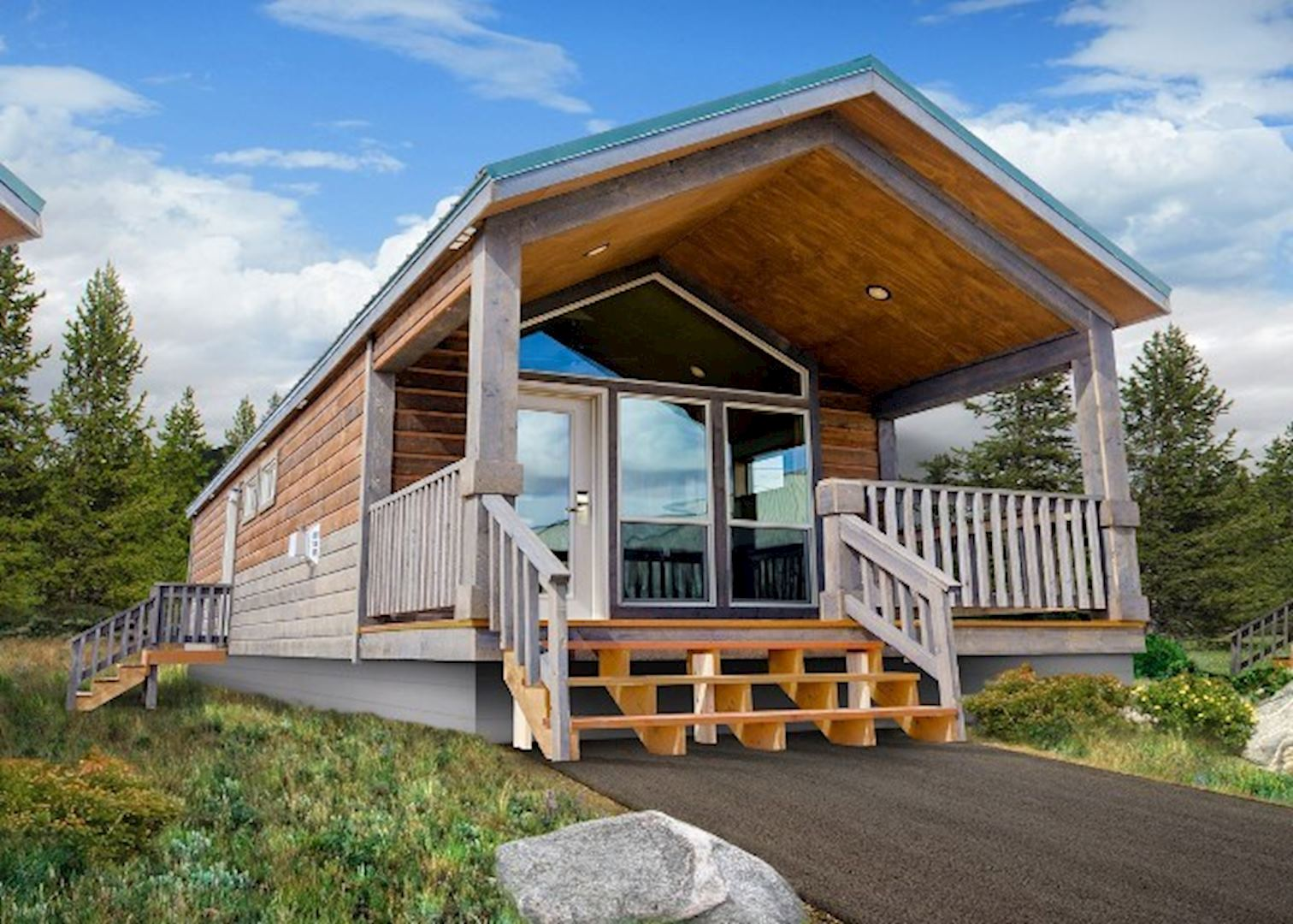 to ranch flagg convenient yellowstone pin cabins at teton camper grand wyoming in and