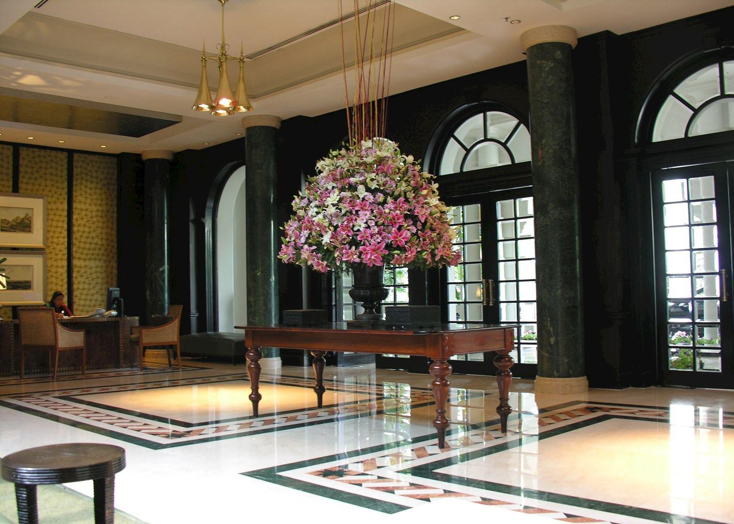 Reception area at Taj West End Hotel  Bangalore. Taj West End   Hotels in Bangalore   Audley Travel