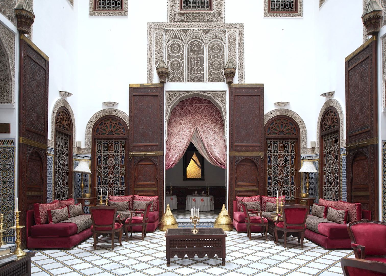 riad maison bleue hotels in fez audley travel. Black Bedroom Furniture Sets. Home Design Ideas