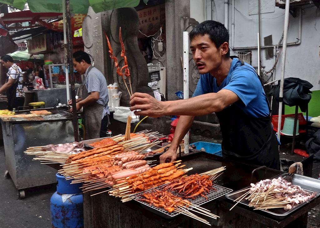 Food vendor in Shanghai