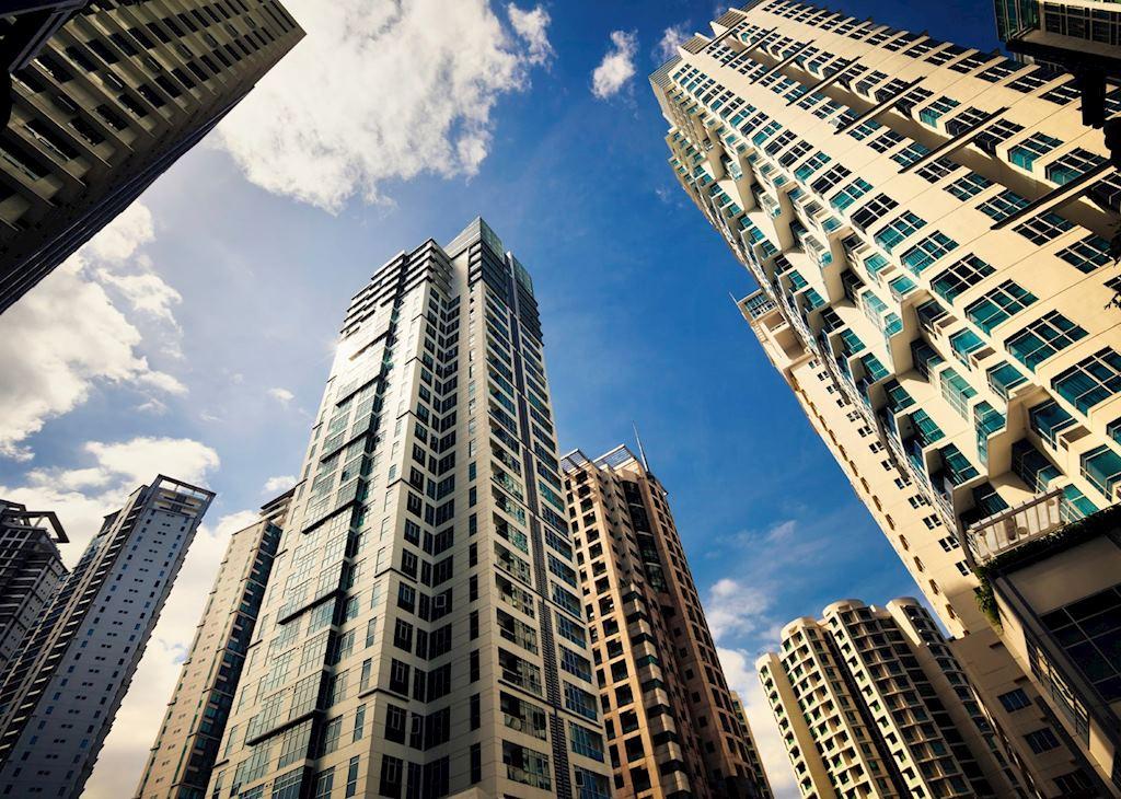 Modern buildings, Manila