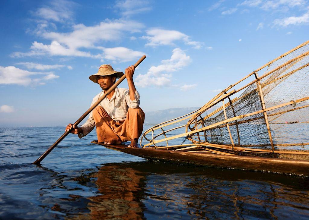Patient fisherman on Inle Lake