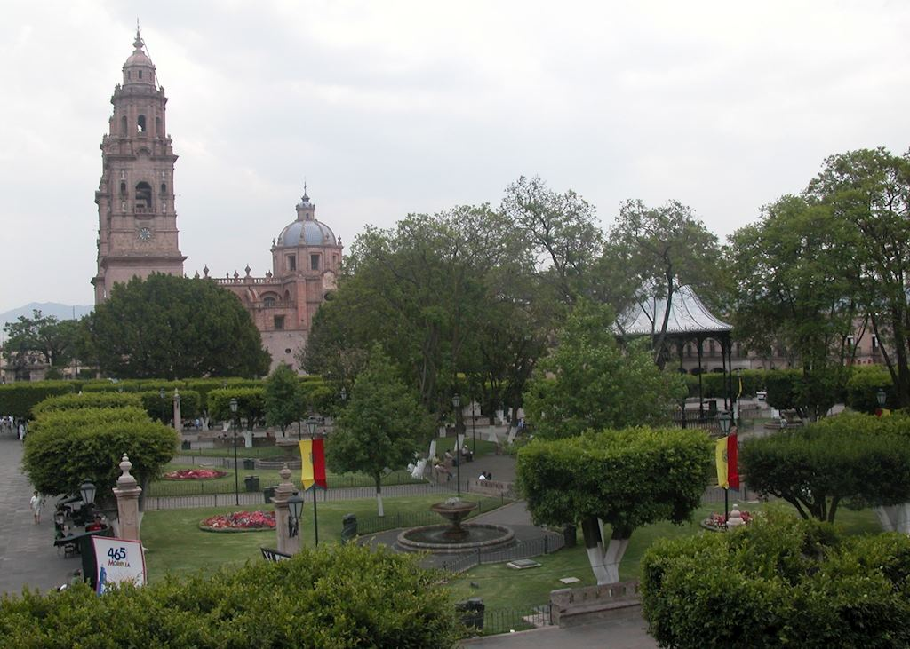 Morelia Central Square and Cathedral, Mexico