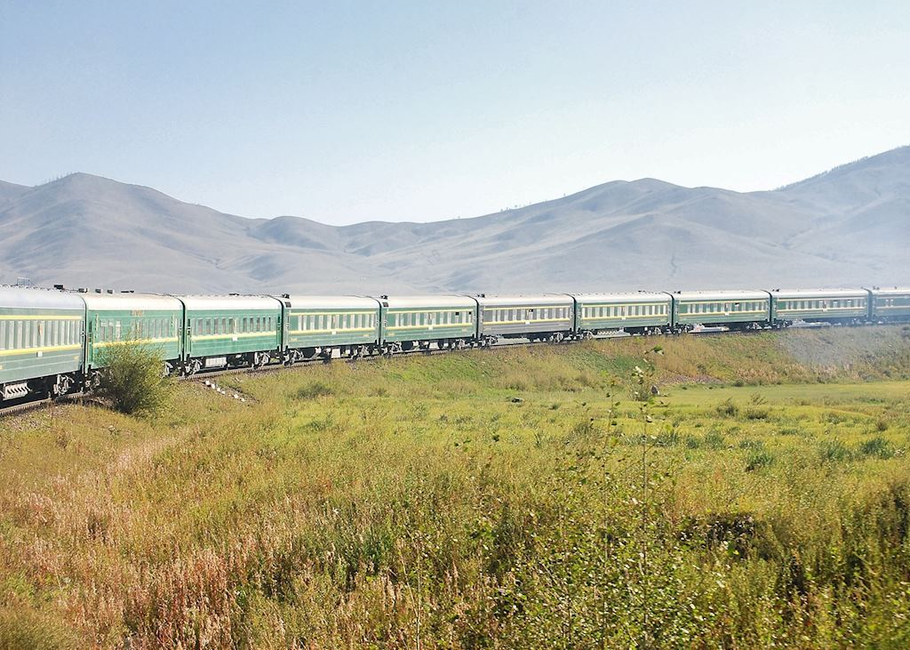 Trans-Mongolian train between Ulaan Batar and Beijing