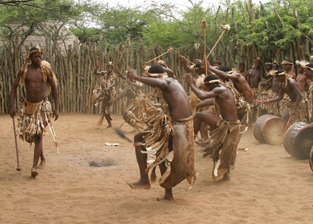 Zulu dancers at Thanda