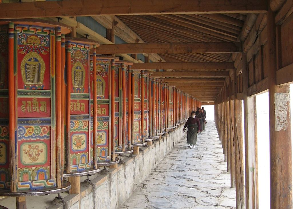 Prayer Wheels at Xiahe Monastery