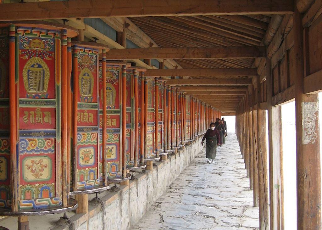 Prayer Wheels at Xiahe Monastery