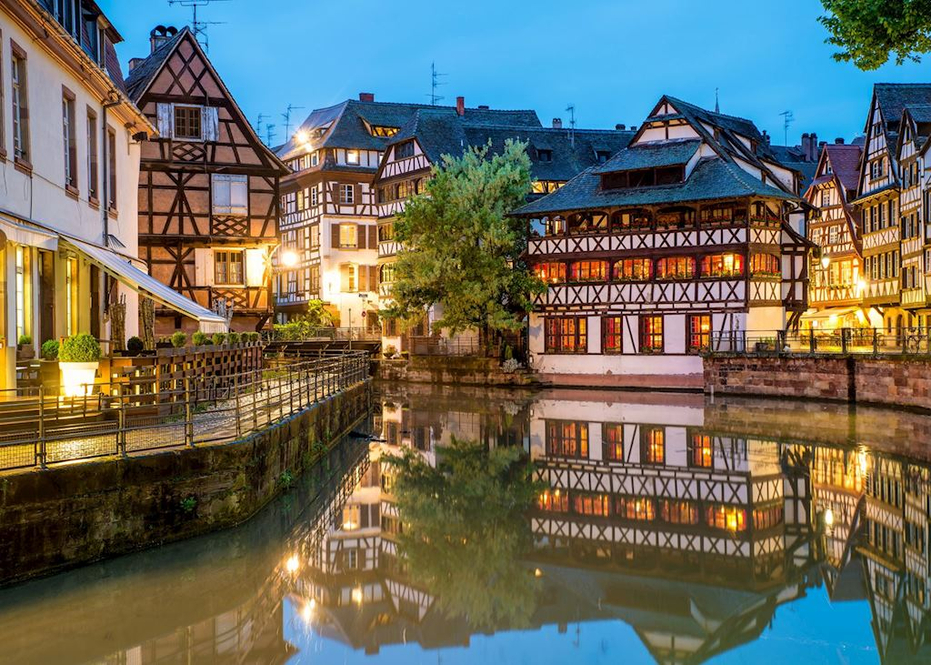 Quaint timbered houses of Petite France in Strasbourg