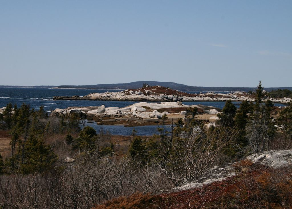 Granite coastal scenery of Nova Scotia