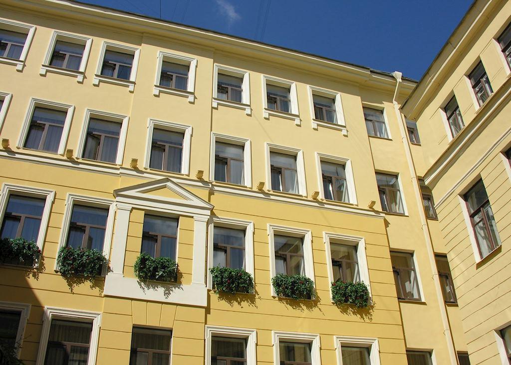 Helvetia Mini Hotel courtyard, St Petersburg
