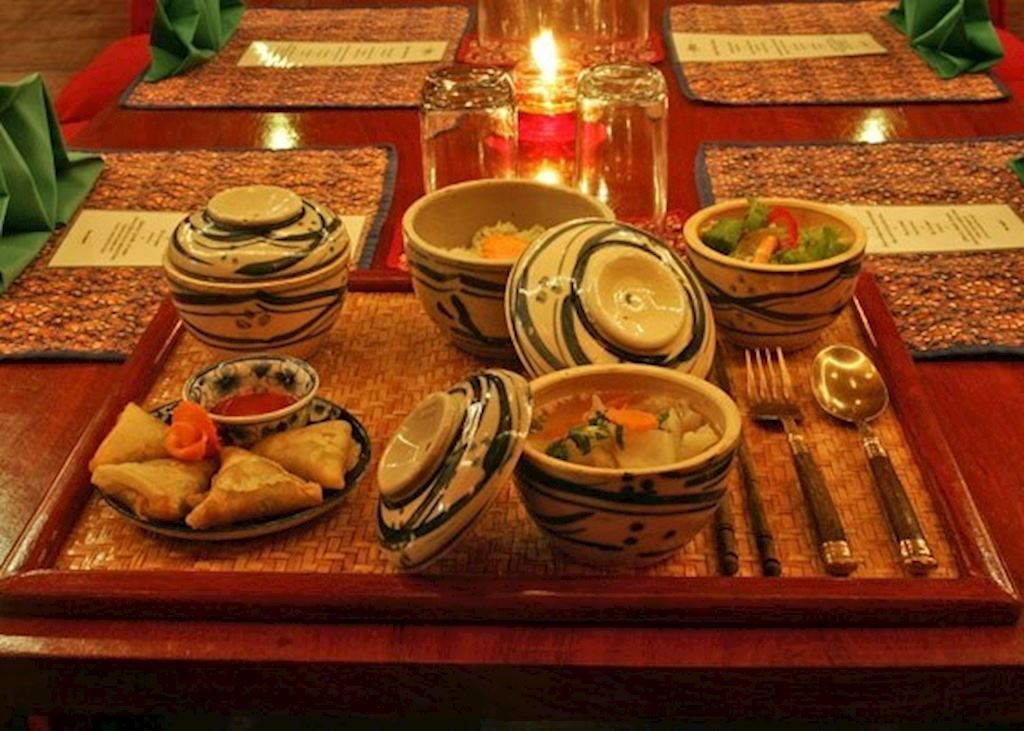 Food at the Apsara Theatre in the Angkor Village Resort and HotelSiem Reap, Cambodia