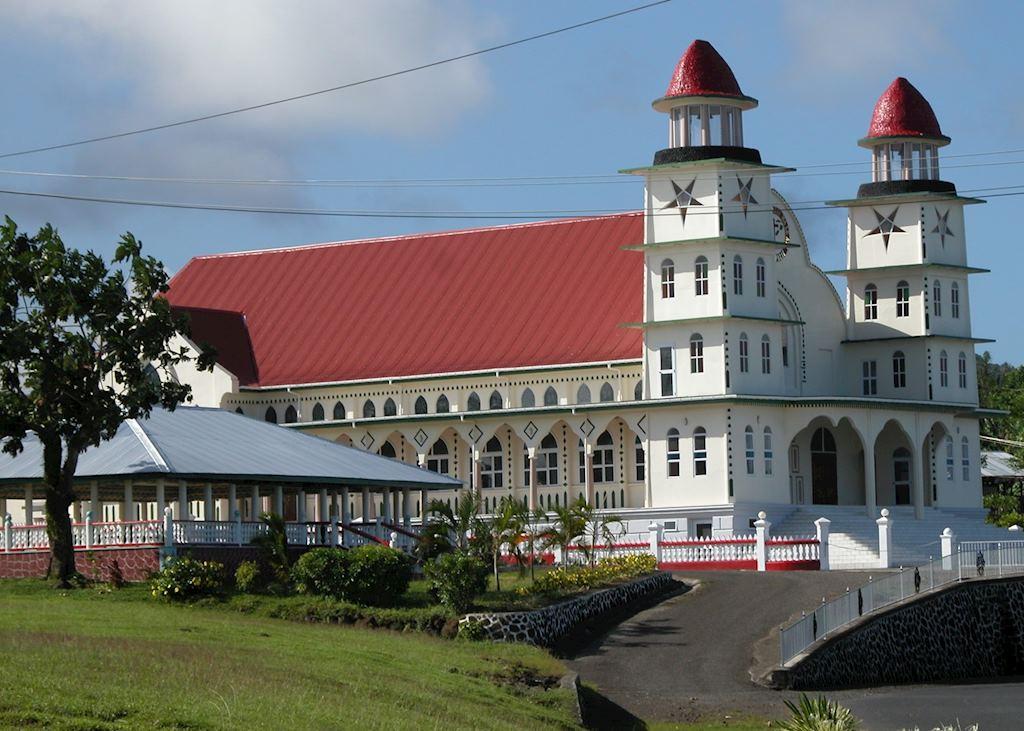 Typical village church, Savai'i