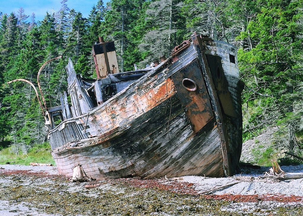 A Shipwreck on Anticosti Island, Quebec