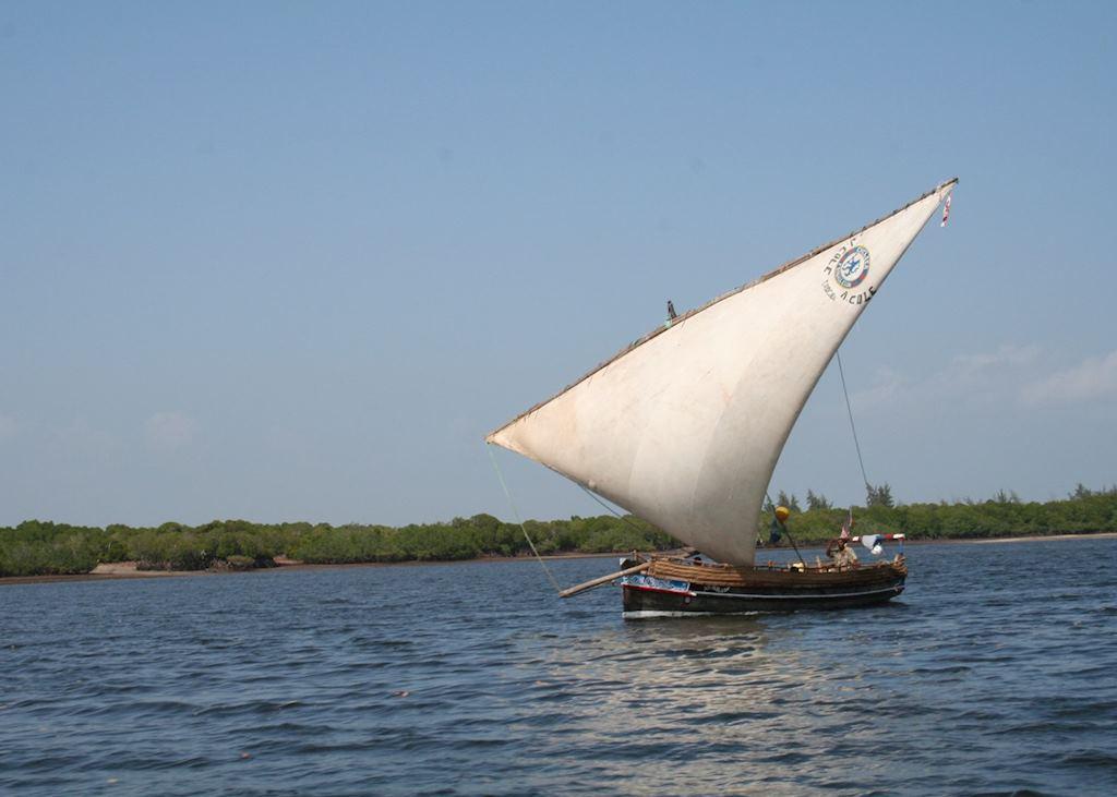 Sailing Dhow, Lamu Archipelago, Kenya