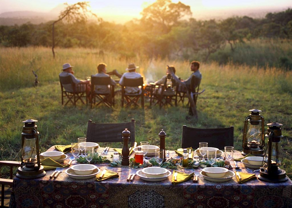 Bush dinner in the Chyulu Hills