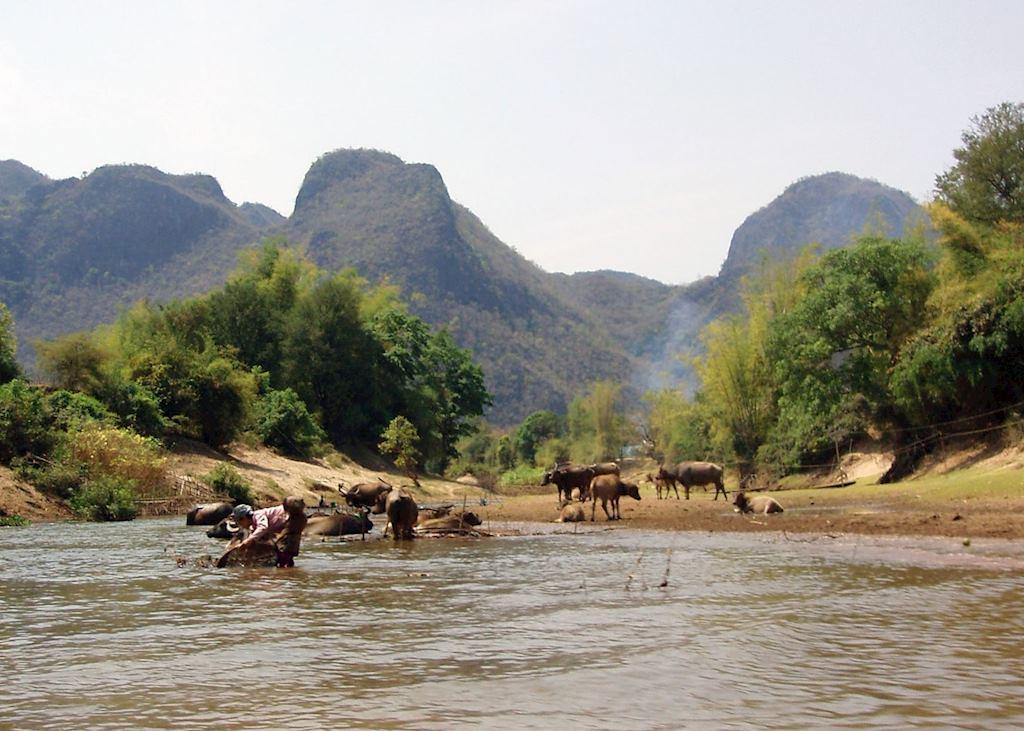 Daily river life, Hin Boun, Laos