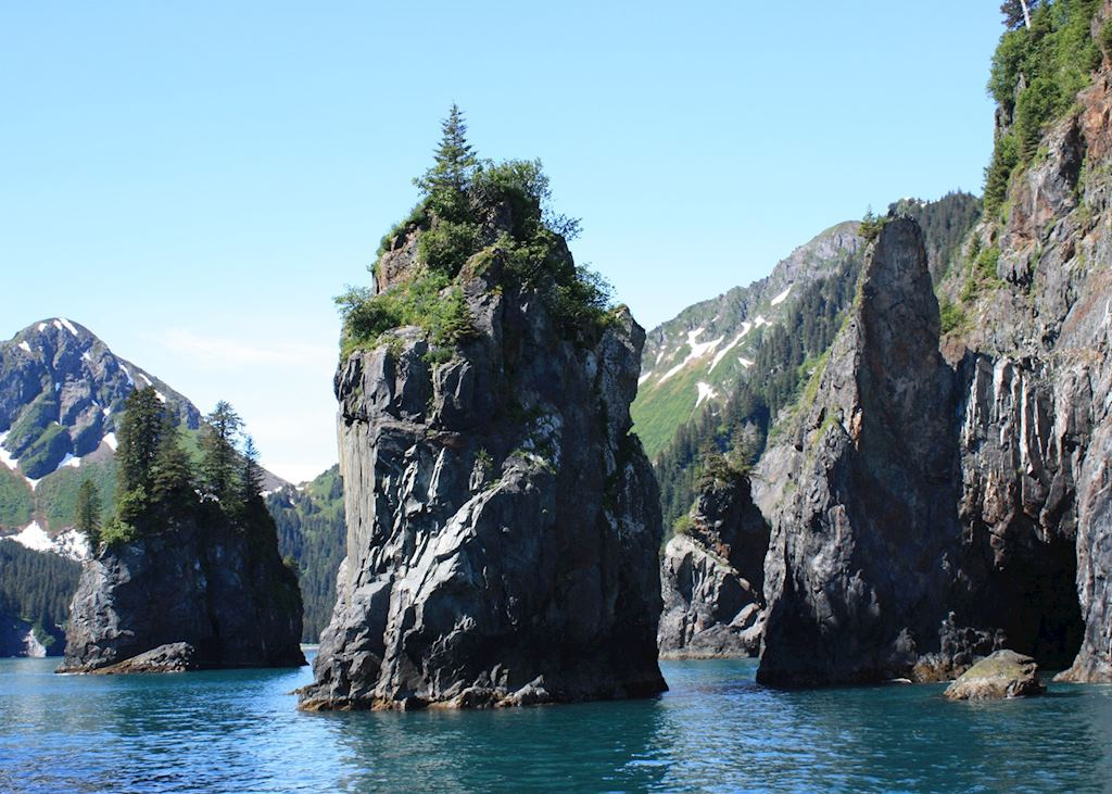 Rock formations, Kenai Fjords National Park