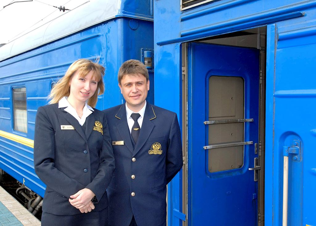 Staff welcoming you on board the GW train