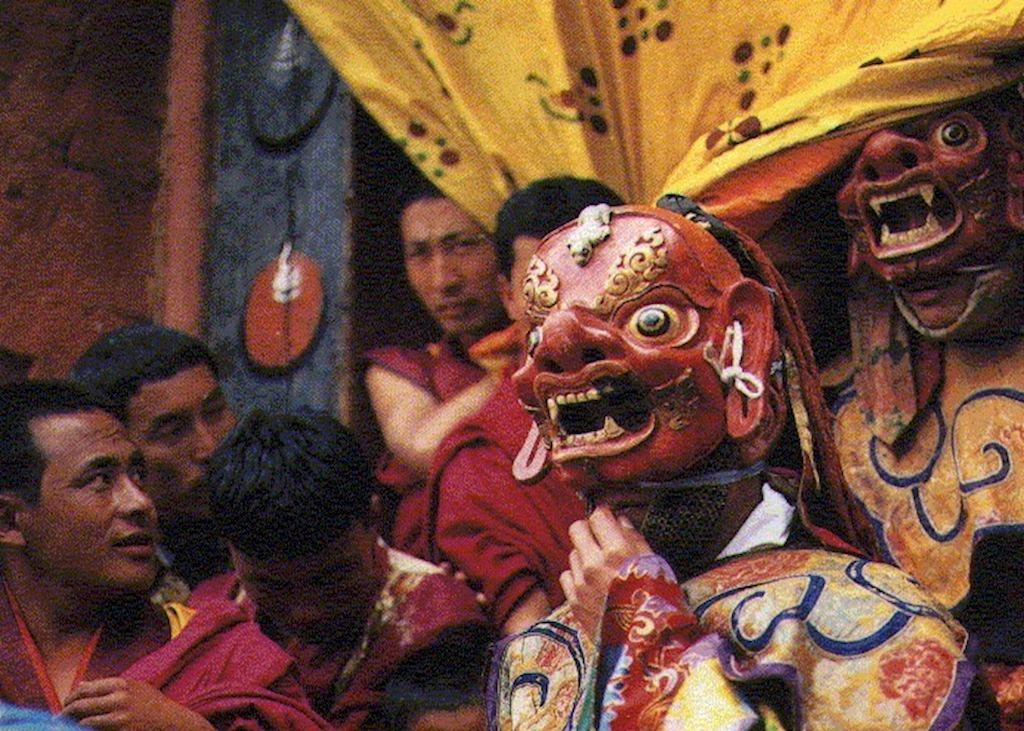Masked dancer at the Paro Tsechu