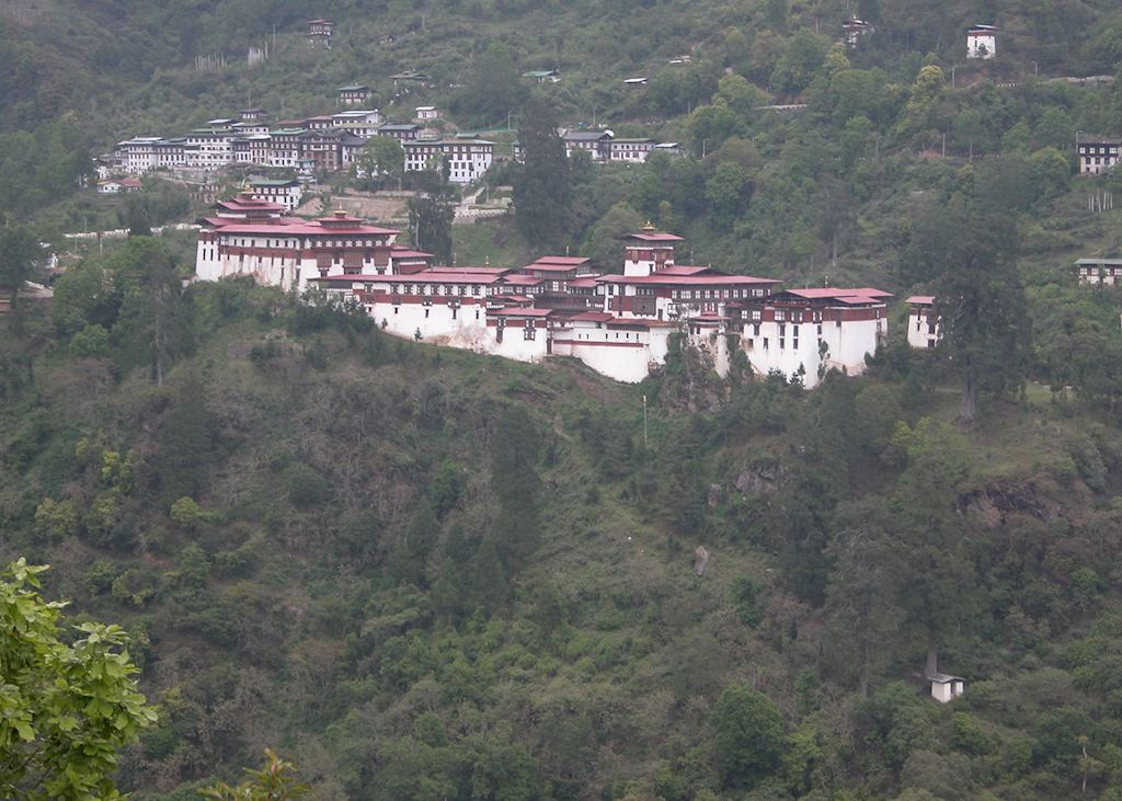 Trongsa Dzong and town