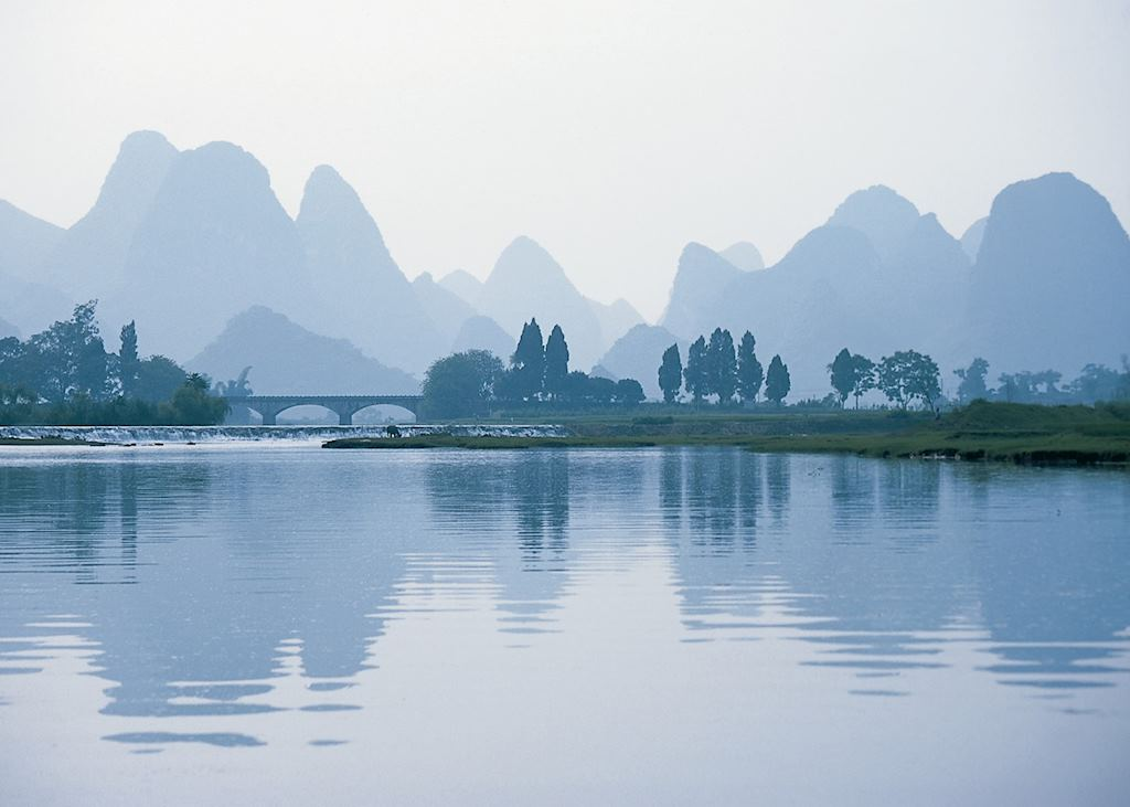 Limestone karst scenery, Guilin region
