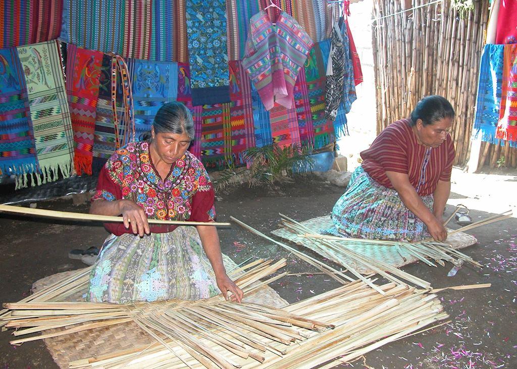 A Petate mat weaving demonstration, Santiago Zamora