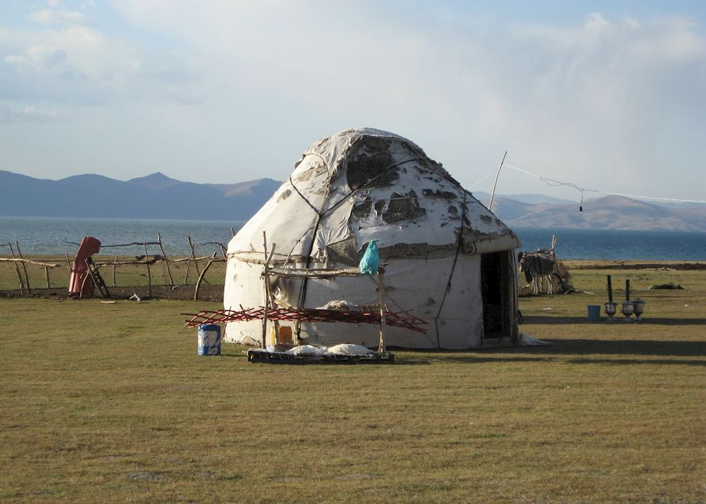 Traditional Yurt on the South Shore, Song Kol Lake