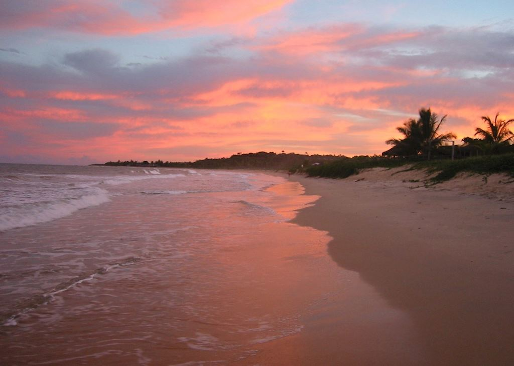 Sunset near Trancoso, Brazil