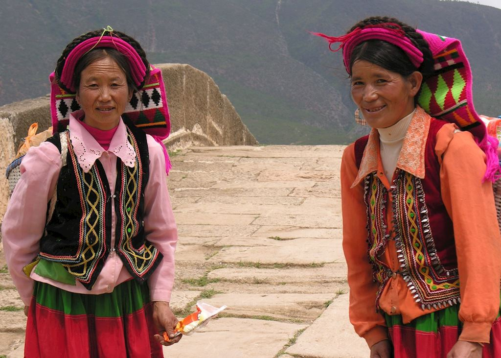 Local Pumi ladies, Shaxi