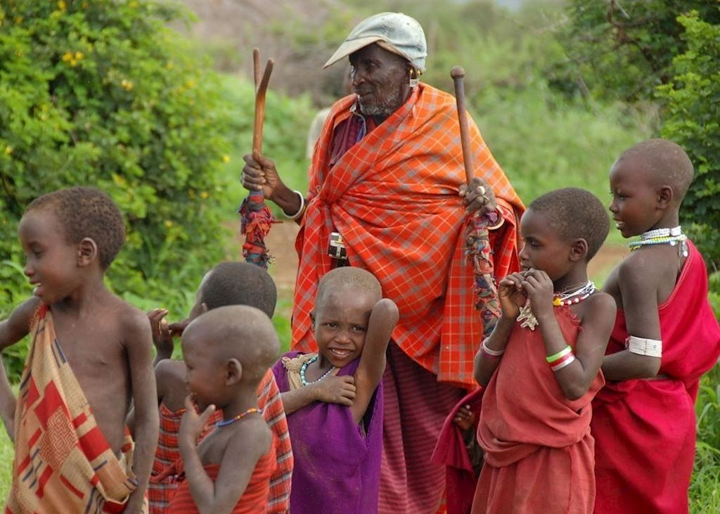 Maasai children at Longido