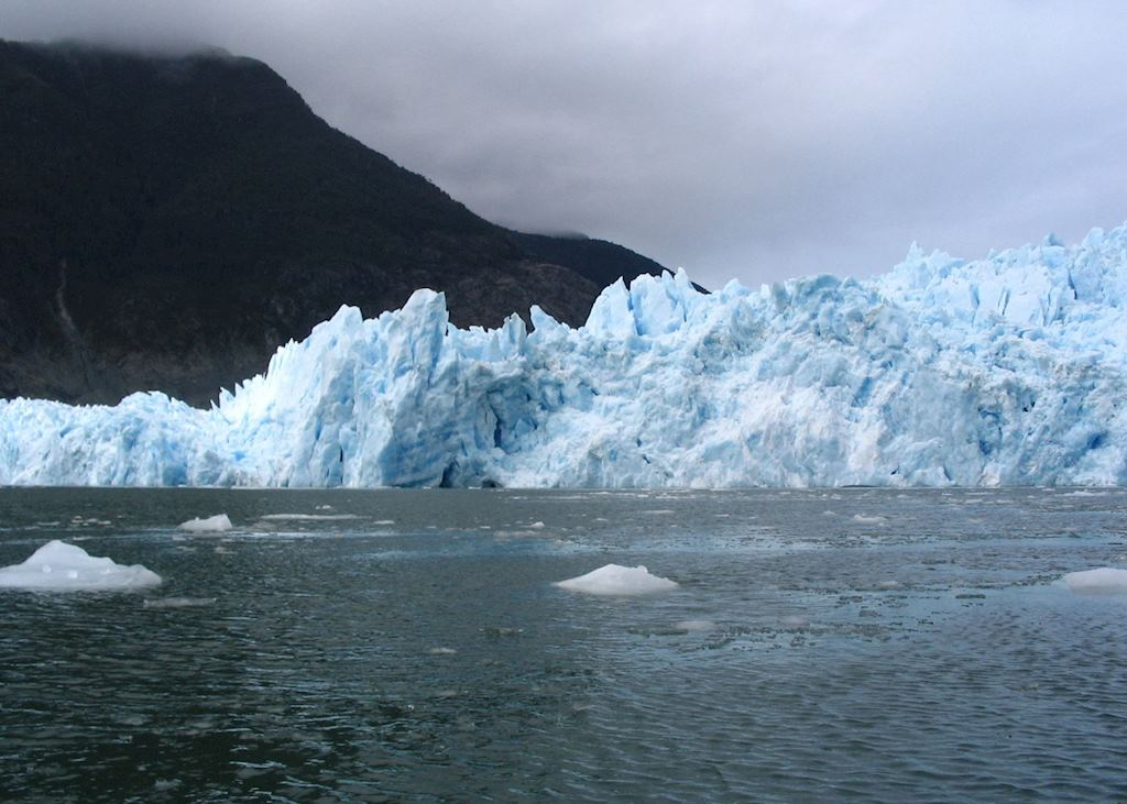 A glacier in the Aisen region of Chile