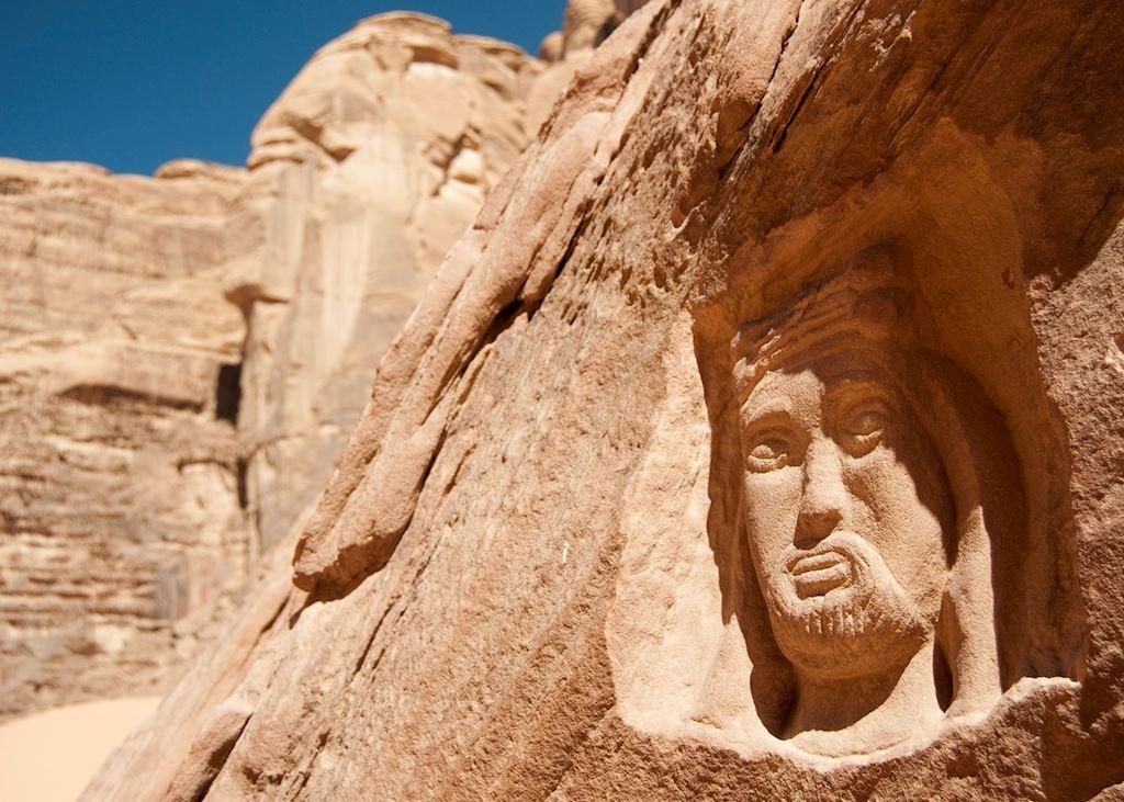 Carving of Lawrence of Arabia, Wadi Rum, Jordan