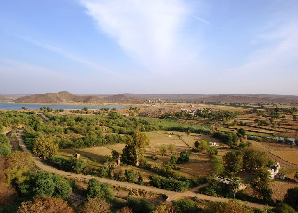 View of the Ramthra countryside