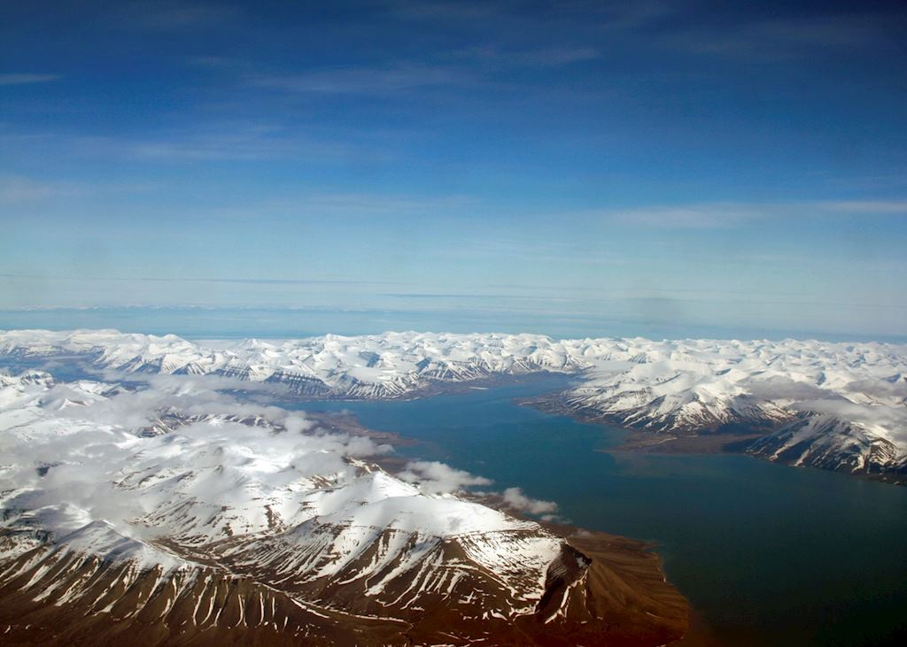 A view of Spitsbergen from the plane