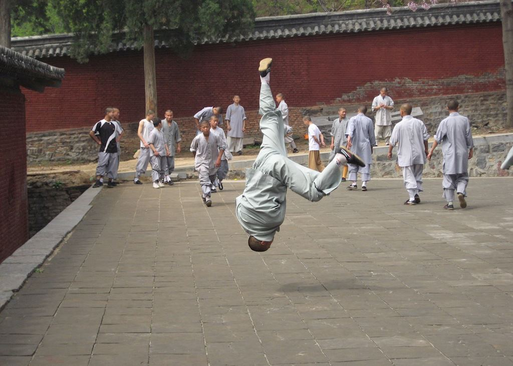 Young monks practising their moves, Shaolin