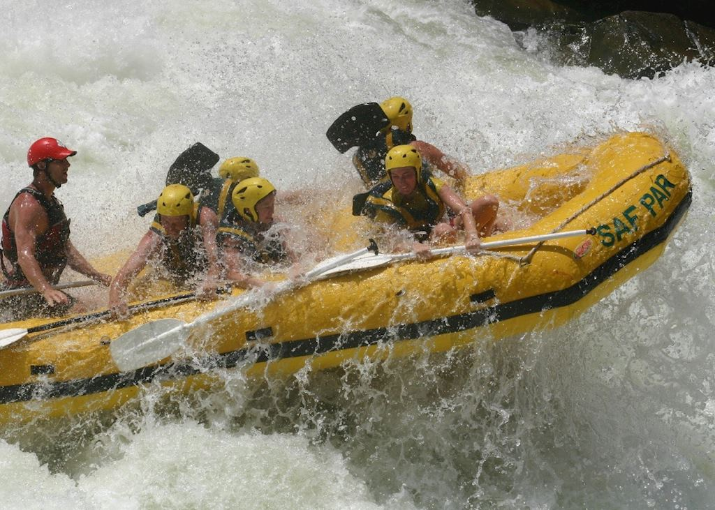 White water rafting on the Zambezi River