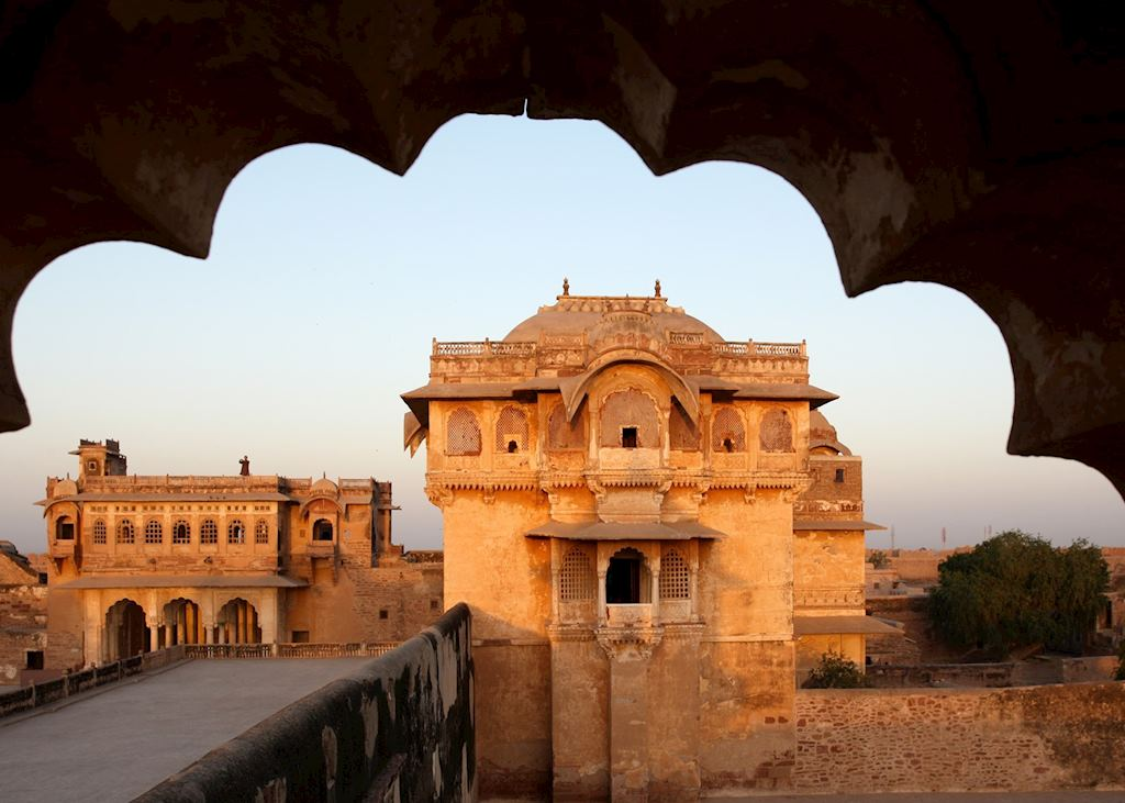 A view of Nagaur Fort from The Ranvas, Nagaur