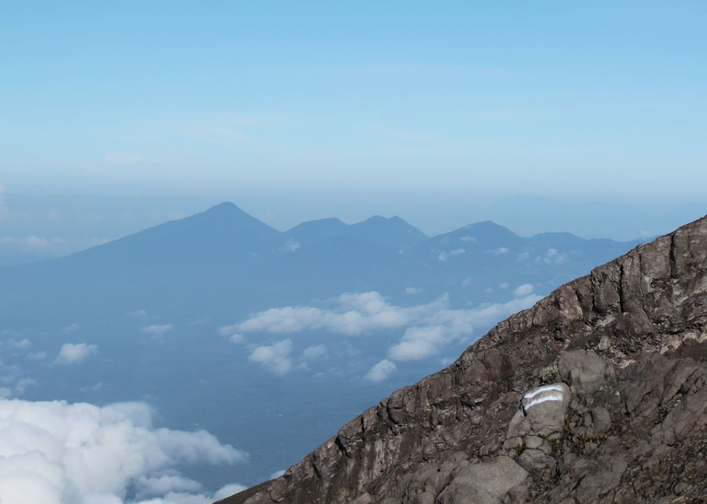 View from Mount Agung, Indonesia