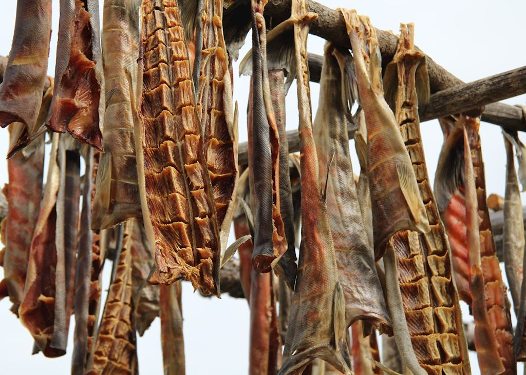 Dried fish, riverboat discovery tour