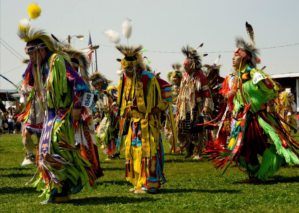 Crow Fair dancers, Crow Indian Reservation near Billings
