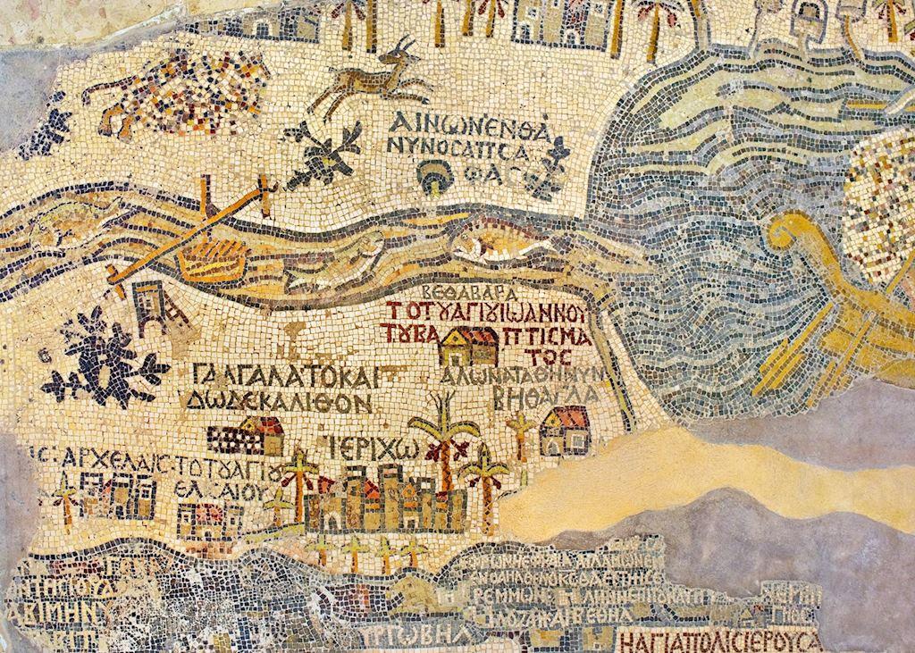 Holy Land mosaic, Madaba, Jordan