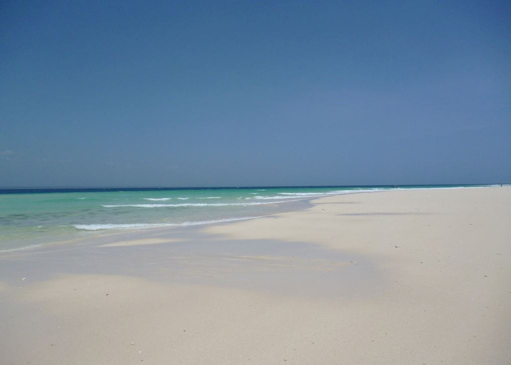The beach on Maziwe Island Atoll at The Tides, Pangani, Tanzania