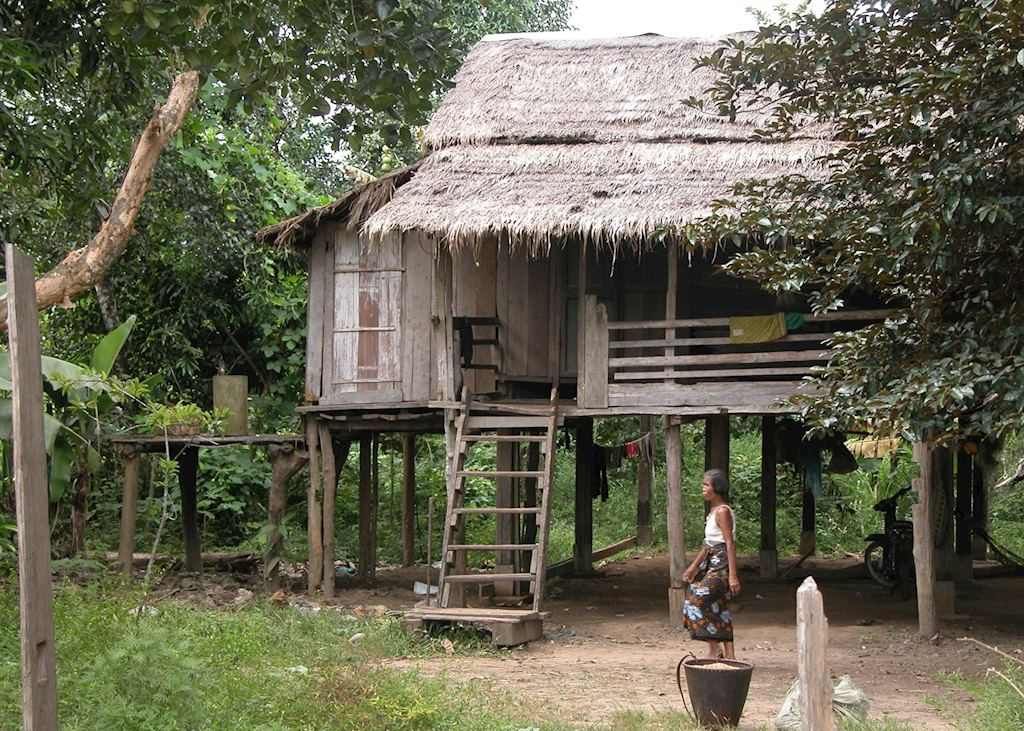 Village house in Ratanakiri, Cambodia