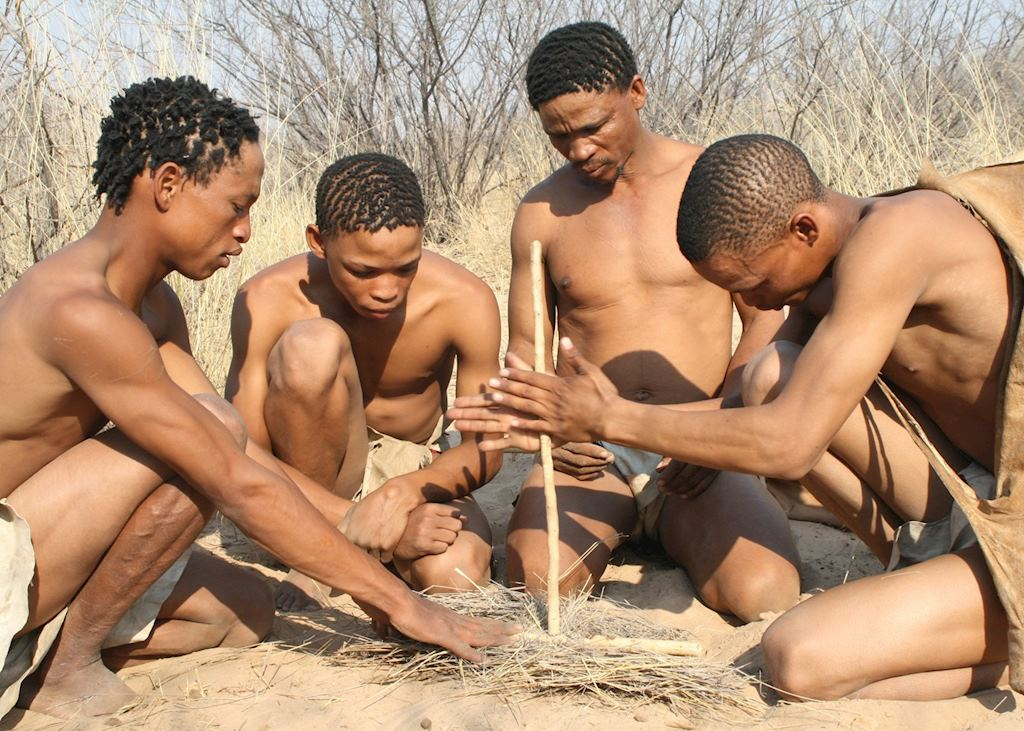 Walking with the Bushmen from Grasslands Lodge