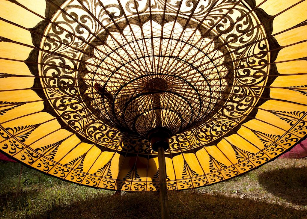 Parasols from Pathein are famed throughout Burma (Myanmar)