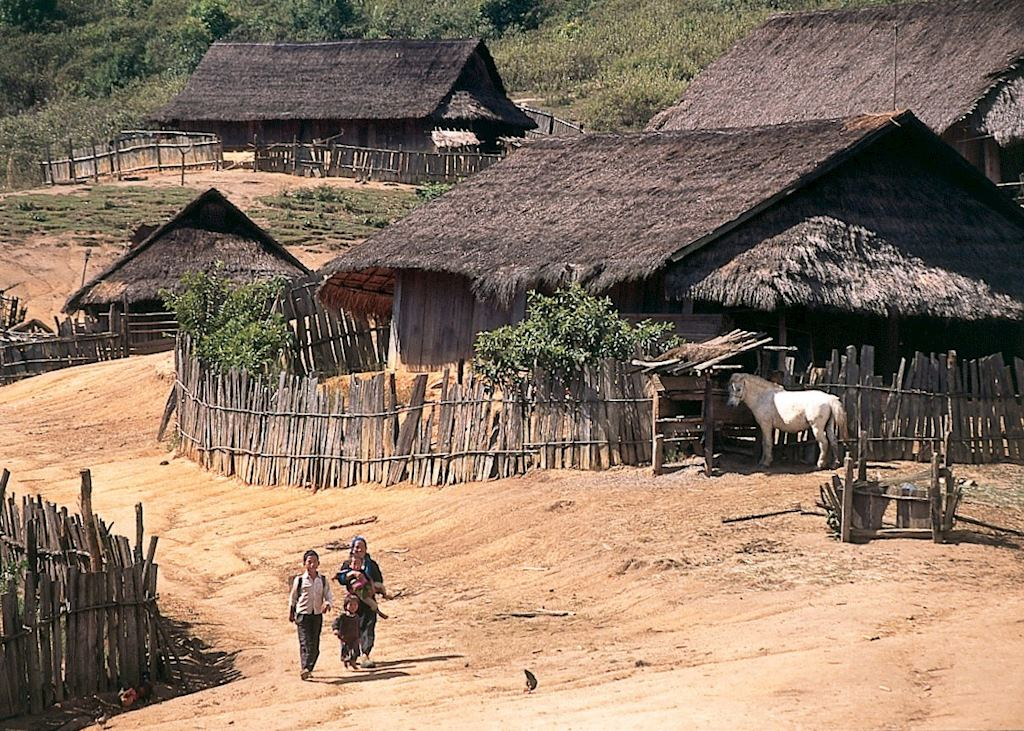 Village scene, Northern Laos