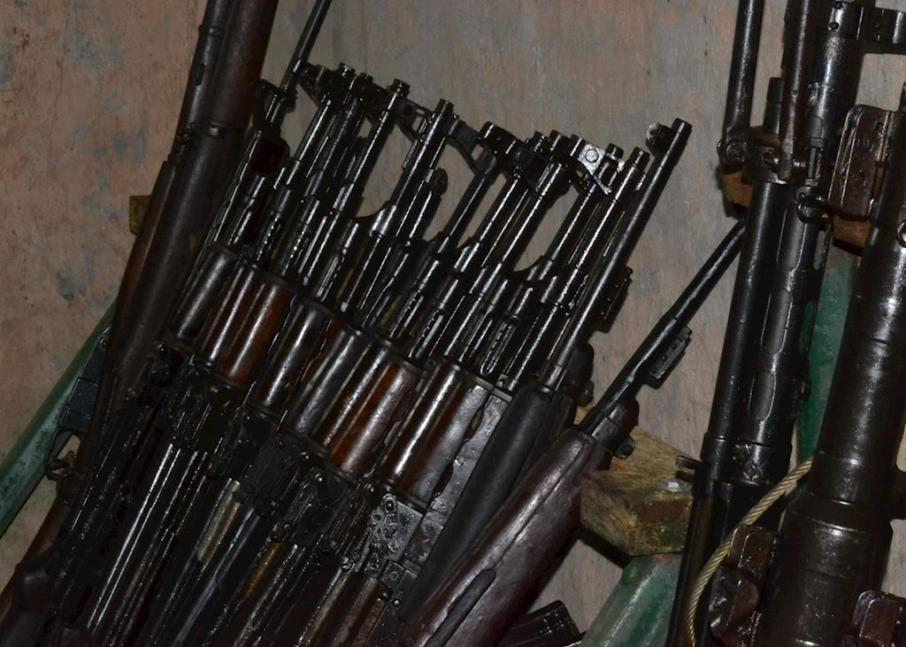Rifles left over in the weapons house