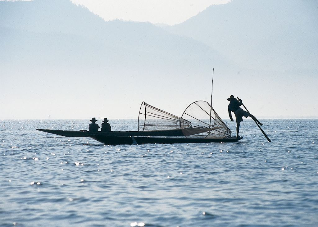 Leg Rowers on Inle Lake